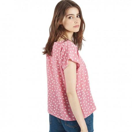 Top Mulberry Rosa Estampado de Compañia Fantastica