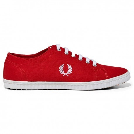 Zapatillas Kingston Twill Blood/white de Fred Perry Shoes