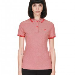 Polo Pique Rojo Basico Para Mujer de Fred Perry Clothes