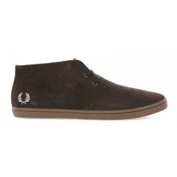 Byron Mid Suede Dark Chocolate de Fred Perry Shoes