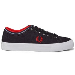 Kendrick Marino Canvas Navy/red de Fred Perry Shoes