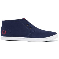 Byron Mid Suede Carbon Blue de Fred Perry Shoes