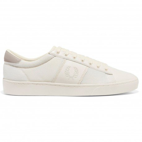 Spencer Mesh Leather Blanco de Fred Perry Shoes