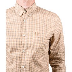 Camisa Cuadro Vichi Tonos Marrones de Fred Perry Clothes