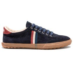 Match Dark Blue Suede Gum Sole Ribbon de El Ganso Calzado