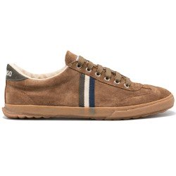 Match Brown Suede Gum Sole Ribbon de El Ganso Calzado