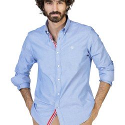 Camisa Azul Liso Cambridge de El Ganso Clothes