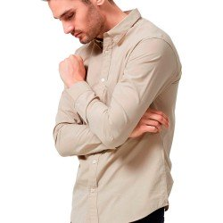 Louis Camisa Camel Manga Larga de Selected