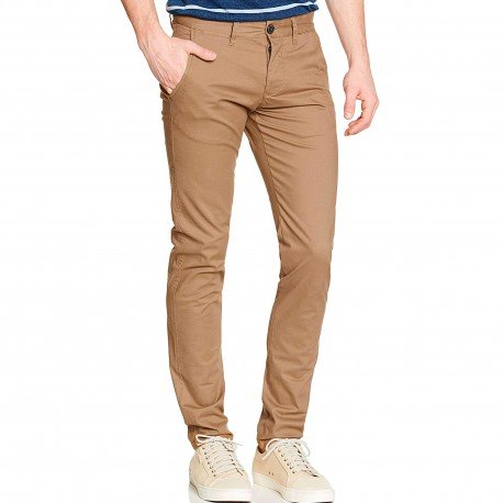 PantalÓn Chino Camel Pitillo de Selected