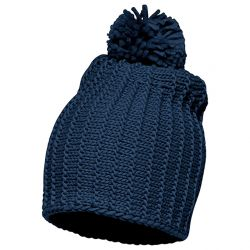 Gorro Allie Knit Marino Lana Pompon de Only