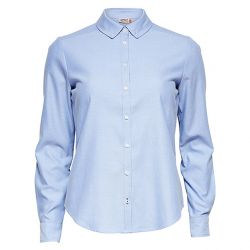 Camisa Oxford Cambridg Azul Manga Larga de Only