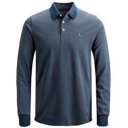 Polo Pique Manga Larga Azul Vigore de Jack & Jones