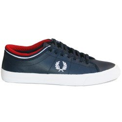 Kendrick Tipped Cuff Leather Navy de Fred Perry Shoes