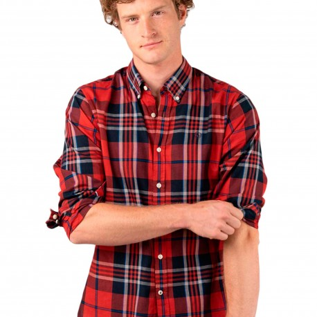 Camisa Big Tartan Rojo Harringbone de El Ganso Clothes