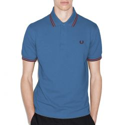 Polo Azul Vivos Granates de Fred Perry Clothes