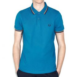 Polo Azul Vivos Ocres de Fred Perry Clothes