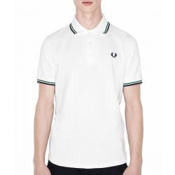 Polo Blanco Vivos Navy/green de Fred Perry Clothes