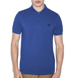 Polo Azul Liso Basico de Fred Perry Clothes