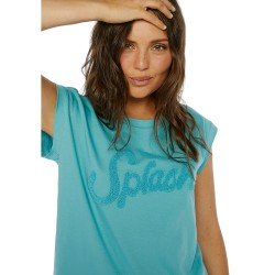 Camiseta Azul Relieve Splash de Compania Fantastica