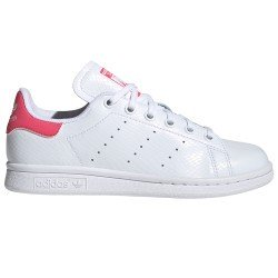 Stan Smith Blanca Cuero Talon Rosa de Adidas Original