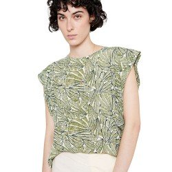 Top Sin Mangas Estampado Tropical Verde de Wild Pony