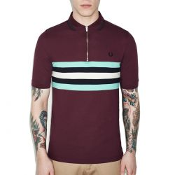 Polo Caoba Franjas Verde Y Blanco de Fred Perry Clothes