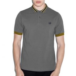 Polo Grey Vivos Azul Y Mostaza de Fred Perry Clothes