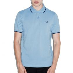 Polo Celeste Vivos Azules de Fred Perry Clothes