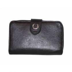 Cartera Negra Mujer Solapa de Fred Perry Clothes