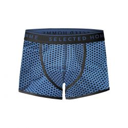 Boxer Azul Rombos de Selected