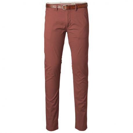 PantalÓn Chino MarrÓn Largo 32 de Selected
