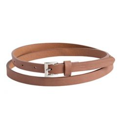 Cinturon Marron Piel Slim de Pieces