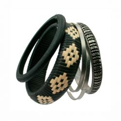 Pie Pulsera Negra Bambu de Pieces