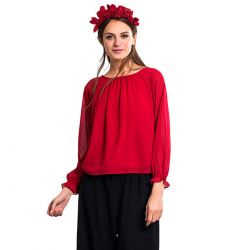 Mildred Blusa Roja Manga Larga de Wild Pony