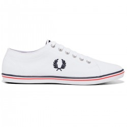 Zapatilla Kingston Twill White de Fred Perry Shoes