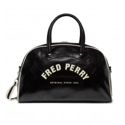 Bolso Negro Asas Logotipo de Fred Perry Clothes