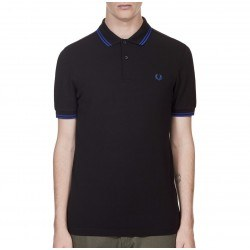 Polo Negro Vivos Azulon Para Hombre de Fred Perry Clothes