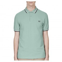 Polo Verde Vivos Marino/blanco Para Hom de Fred Perry Clothes
