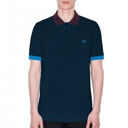 Polo Pique Marino Cuello/puños Contrate de Fred Perry Clothes