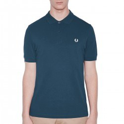 Polo Pique Azul Basico Liso de Fred Perry Clothes