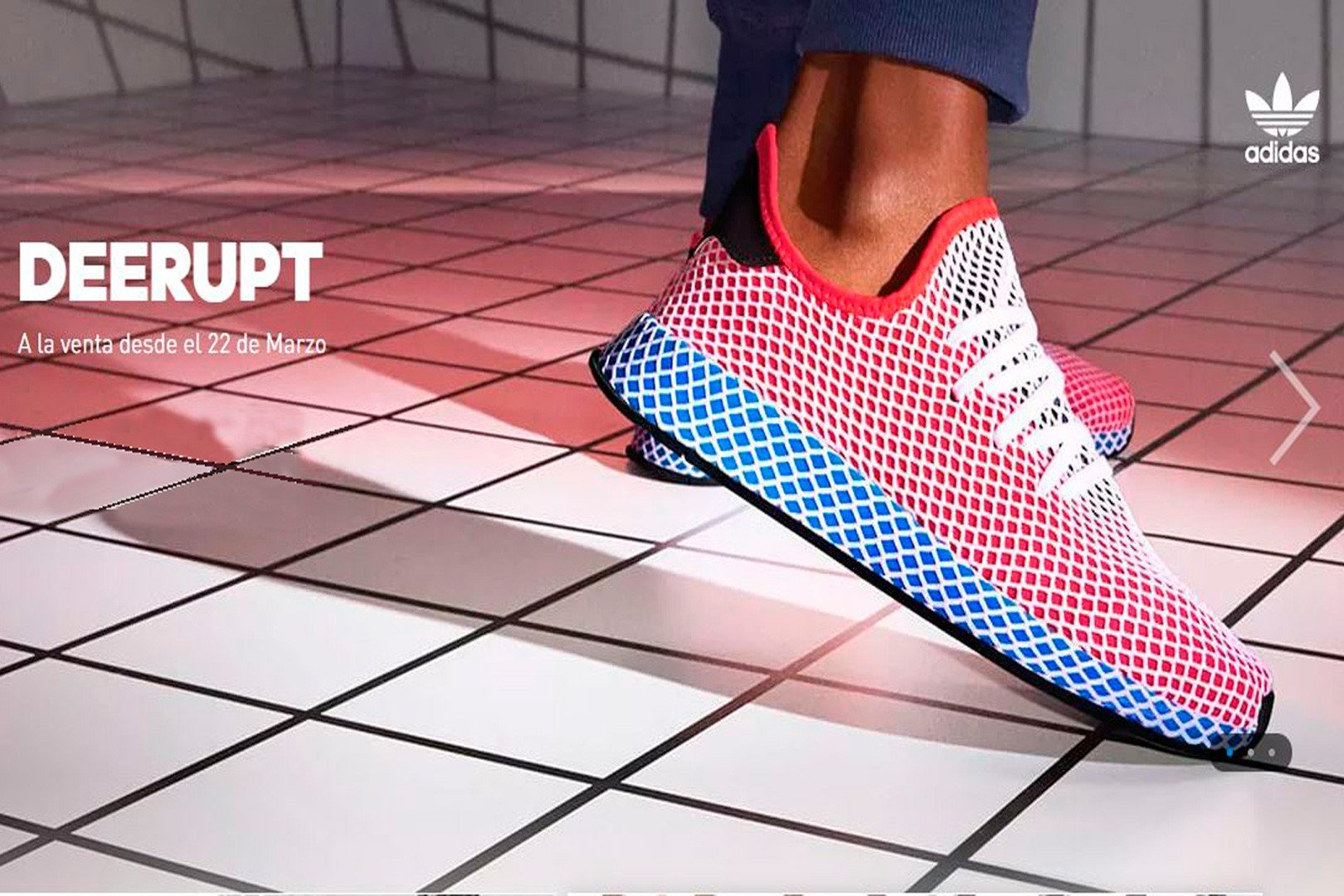 adidas DEERUPT RUNNER SOLAR RED